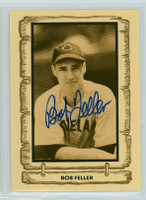 Bob Feller AUTOGRAPH d.10 1980-83  Cramer Baseball Legends Indians 