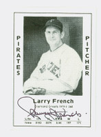 Larry French AUTOGRAPH d.87 1979 TCMA Diamond Greats Pirates 