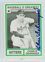 Charlie Gehringer AUTOGRAPH d.93 TCMA Greatest Hitters Tigers   [SKU:GehrC3822_TCMApl]