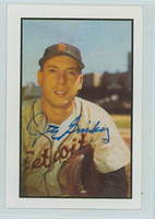 Joe Ginsberg AUTOGRAPH d.12 1953 Bowman Color Reprints Tigers 