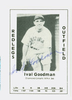 Ival Goodman AUTOGRAPH d.84 1979 TCMA Diamond Greats Reds 