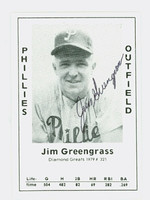 Jim Greengrass AUTOGRAPH 1979 TCMA Diamond Greats Phillies 