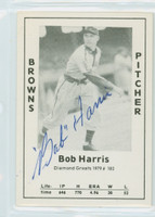 Bob Harris AUTOGRAPH d.89 1979 TCMA Diamond Greats Browns 