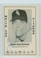 Jack Harshman AUTOGRAPH d.13 1979 TCMA Diamond Greats White Sox 