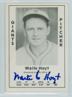 Waite Hoyt AUTOGRAPH d.84 1979 TCMA Diamond Greats Giants 