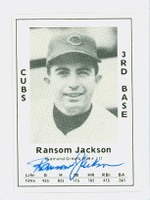 Randy Jackson AUTOGRAPH 1979 TCMA Diamond Greats Cubs 