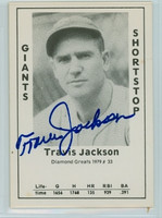 Travis Jackson AUTOGRAPH d.87 1979 TCMA Diamond Greats Giants 