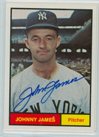 Johnny James AUTOGRAPH Galasso 1961 World Champion New York Yankees 