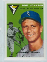 Don Johnson AUTOGRAPH d.15 Topps 1954 Archives #146 White Sox 