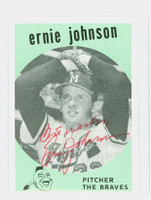 Ernie Johnson AUTOGRAPH d.11 The Braves / The Yankees   [SKU:JohnE4780_COLL]