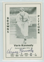 Vernon Kennedy AUTOGRAPH d.93 1979 TCMA Diamond Greats Browns 