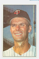 Jerry Kindall AUTOGRAPH 1977-78 Twins Team Issue 