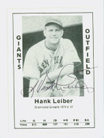 Hank Leiber AUTOGRAPH d.93 1979 TCMA Diamond Greats Giants 