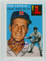 Ted Lepcio AUTOGRAPH Topps 1954 Archives #66 Red Sox 