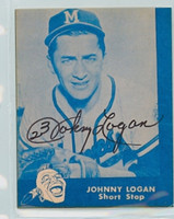 Johnny Logan AUTOGRAPH d.13 Lake to Lake Braves Reprints 