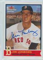 Jim Lonborg AUTOGRAPH 2001 Fleer Red Sox 100th 