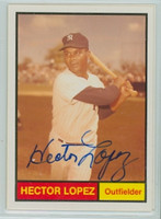 Hector Lopez AUTOGRAPH Galasso 1961 World Champion New York Yankees 