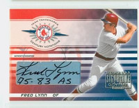 Fred Lynn AUTOGRAPH 2003 Donruss Signature Series Red Sox CERTIFIED 
