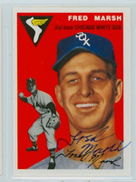 Fred Marsh AUTOGRAPH d.06 Topps 1954 Archives #218 White Sox 