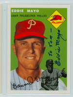 Eddie Mayo AUTOGRAPH d.06 Topps 1954 Archives Phillies 