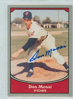 Don Mossi AUTOGRAPH 1990 Pacific Legends Indians 