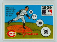Monte Pearson AUTOGRAPH d.78 1967 Laughlin World Series Reds 