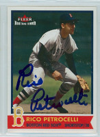 Rico Petrocelli AUTOGRAPH 2001 Fleer Red Sox 100th 