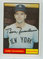 Bobby Richardson AUTOGRAPH Galasso 1961 World Champions New York Yankees 