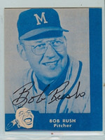 Bob Rush AUTOGRAPH d.11 Lake to Lake Braves Reprints 