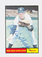 Roland Sheldon AUTOGRAPH Galasso 1961 World Champions New York Yankees 