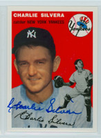 Charlie Silvera AUTOGRAPH Topps 1954 Archives #96 Yankees   [SKU:SilvC112_T54BBRPLB]
