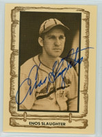 Enos Slaughter AUTOGRAPH d.02 1980-83  Legends Cramer Sports 
