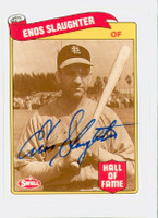 Enos Slaughter AUTOGRAPH d.02 Swell Cardinals 