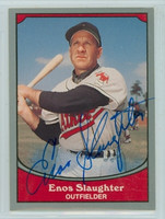 Enos Slaughter AUTOGRAPH d.02 1990 Pacific Legends Athletics 