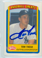 Tom Tresh AUTOGRAPH d.08 Swell Yankees 
