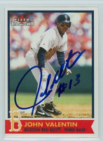 John Valentin AUTOGRAPH 2001 Fleer Red Sox 100th 