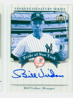 Bill Virdon AUTOGRAPH 2003 Pride of the Yankees CERTIFIED 