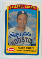 Harry Walker AUTOGRAPH d.99 Swell Astros 