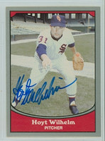 Hoyt Wilhelm AUTOGRAPH d.02 1990 Pacific Legends White Sox 