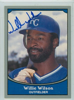 Willie Wilson AUTOGRAPH 1990 Pacific Legends Royals 