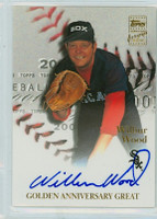 Wilbur Wood AUTOGRAPH 2001 Topps Insert Certified Autograph Series 2 White Sox CERTIFIED 
