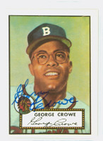 George Crowe HIGH # AUTOGRAPH 1952 Topps 1983 Reprint Braves 