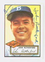 John Rutherford HIGH # AUTOGRAPH 1952 Topps 1983 Reprint Dodgers 