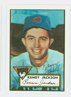 Randy Jackson HIGH # AUTOGRAPH 1952 Topps 1983 Reprint Cubs 
