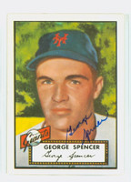 George Spencer HIGH # AUTOGRAPH 1952 Topps 1983 Reprint Giants   [SKU:SpenG274_T52RPA]