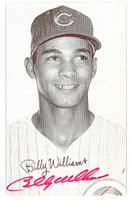 Billy Williams AUTOGRAPH 1947 Exhibit Cubs 