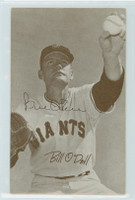 Billy O'Dell AUTOGRAPH 1947-66 Exhibit Giants 