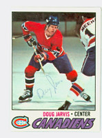 Doug Jarvis AUTOGRAPH 1977-78 Topps Canadiens 