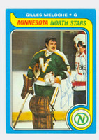 Gilles Meloche AUTOGRAPH 1979-80 Topps North Stars 