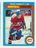 Mario Tremblay AUTOGRAPH 1979-80 Topps Canadiens 